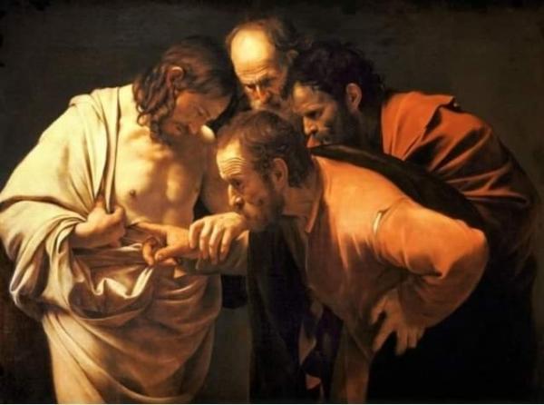 예수의 상처를 확인하는 도마 (카라바조)